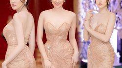 """""""Bạn gái Noo Phước Thịnh"""" đẹp như nữ thần với váy trễ nải"""