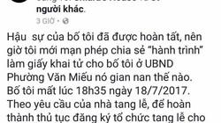 """HN: Phường Văn Miếu bác thông tin """"lót tay"""" mới cấp giấy chứng tử"""