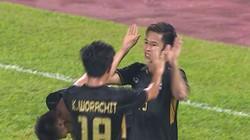 """Clip: U22 Thái Lan """"hủy diệt"""" U22 Campuchia trong trận cầu 2 thẻ đỏ"""