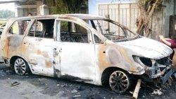 Hai nhóm thanh niên hỗn chiến, phóng hỏa đốt xe Innova