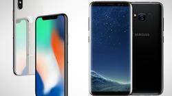 """So kè hai """"kẻ thù"""" iPhone X và Samsung Galaxy S8"""
