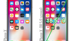 Màn hình của iPhone X lớn cỡ nào?