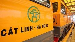 Chạy thử tàu công trình trên đường sắt Cát Linh - Hà Đông