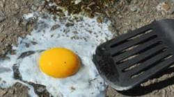Cận cảnh nắng nóng kỷ lục, người dân ốp trứng trên vỉa hè
