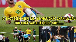 ẢNH CHẾ WORLD CUP (3.7): Neymar 'trùm ăn vạ', không muốn theo chân Ronaldo