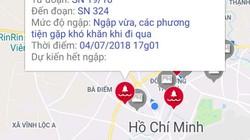 """Người sử dụng phần mềm cảnh báo ngập ở Sài Gòn """"ngã ngửa"""" khi nhận tin này"""