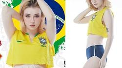 """Bị bắt vì cá độ World Cup, """"nữ thần Thái Lan"""" vẫn tung ảnh thời trang cổ vũ Brazil"""