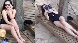 Vợ đại gia kim cương Châu Đăng Khoa khoe dáng nuột nà với áo tắm