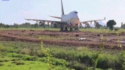 Thái Lan: Tỉnh dậy sau một đêm, ngỡ ngàng thấy Boeing 747 trên cánh đồng