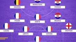Đội hình tiêu biểu bán kết World Cup 2018: Pháp vô đối