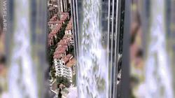 Thác nước cao nhất thế giới gây kinh ngạc ở tòa nhà chọc trời TQ