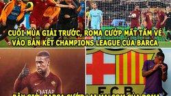 ẢNH CHẾ BÓNG ĐÁ (25.7): Barca 'phục thù' Roma, Ronaldo bị căm ghét