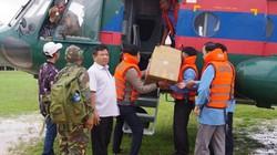 Bộ đội Quân khu 5 cùng trực thăng tiếp cận điểm nóng vụ vỡ đập ở Lào