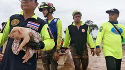 Ảnh: Nhóm giải cứu đội bóng nhí Thái Lan đến Lào cứu nạn