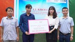 Quỹ Vì tầm vóc Việt, Tập đoàn TH tài trợ 500 triệu xây cầu ở Hà Giang