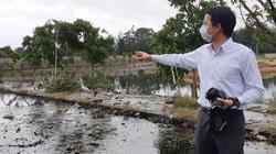 Khu nước thải Cty Đầu tư  Du lịch Hải Tiến tràn ra môi trường