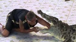Thọc tay vào họng cá sấu, lãnh cú đớp, lắc kinh hoàng