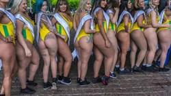Hoa hậu Siêu vòng 3 Brazil 2018 làm náo loạn đường phố