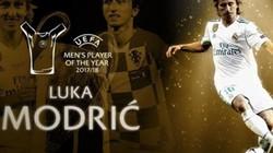 Luka Modric giành giải Cầu thủ xuất sắc nhất năm của UEFA