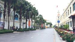 Cảnh vắng vẻ hiếm thấy trên đường phố TP.HCM ngày Quốc khánh 2.9