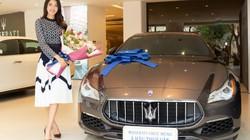Á hậu Thúy Vân chi hơn 8 tỷ đồng tậu xe sang Maserati