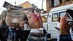 """Kinh dị lễ hội """"hành xác"""", tự chém mình của người Hồi giáo"""
