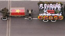 Qua nhiều phố, xe tang đưa linh cữu Chủ tịch nước ghé nhà riêng