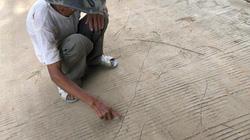 Quảng Ngãi: Đường bê tông mới làm đã nứt chằng chịt