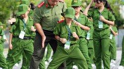 Ảnh: Chiến sĩ nhí hăng say tập điều lệnh và 25 động tác võ thuật CAND
