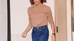 Học Victoria Beckham cách mặc quần jeans đi làm