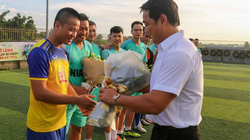Giao hữu bóng đá giữa Báo Dân Việt và Cảng Hàng không Quốc tế Nội Bài