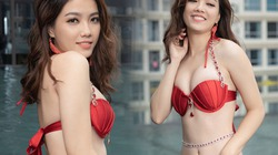 """Em gái NTK Đức Vincie lần đầu diện bikini trước khi thi """"Hoa hậu hoàn vũ VN 2019"""""""