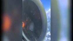 """Gần 150 hành khách kinh hãi khi động cơ máy bay """"rụng"""" cánh quạt, tóe lửa giữa trời"""