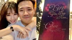 Không nhẫn kim cương, 3 năm trước Trấn Thành cầu hôn Hari Won thế nào?