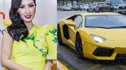Nguyễn Hồng Nhung đi sự kiện tại Mỹ: Lái Lamborghini 500.000 USD, đeo nhẫn 30.000 USD