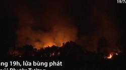 Hàng trăm người chữa cháy rừng trong đêm ở Đà Nẵng