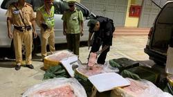 Lạng Sơn: Bắt giữ xe chở 9 tạ nầm lợn hôi thối