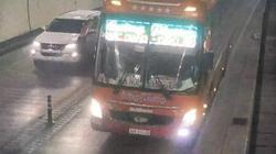 Tước giấy phép lái xe tài xế chạy ngược chiều trong hầm Hải Vân