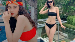 Trương Quỳnh Anh, Đỗ Mỹ Linh mặc bikini ngày mưa bão, ai gợi cảm hơn?