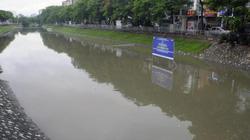 """Sông Tô Lịch nước chảy cuồn cuộn sau bão số 3, """"bảo bối"""" của Nhật có ảnh hưởng?"""