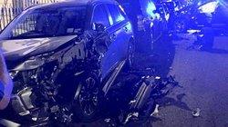 Clip rùng mình tài xế Audi Q7 lao như tên bắn đâm nát 11 siêu xe