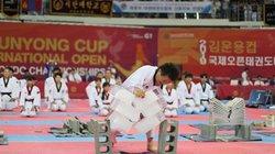 Võ sư Taekwondo dùng tay không công phá 3 khối nước đá