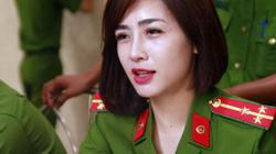 Hình ảnh nữ công an xinh đẹp tham gia hiến máu tình nguyện