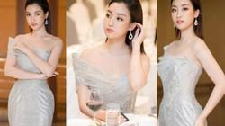 """Hoa hậu Đỗ Mỹ Linh mặc đẹp tựa nữ thần, """"phớt lờ"""" ồn ào bủa vây?"""