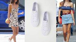 Học siêu mẫu Emily Ratajkowski phối từ váy tới quần với sneaker trắng