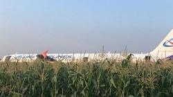 Máy bay Nga chở 234 người đến Crimea hạ cánh kịch tính trên cánh đồng