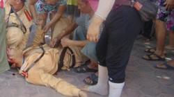 Vi phạm giao thông, thanh niên dùng đá tấn công CSGT trọng thương