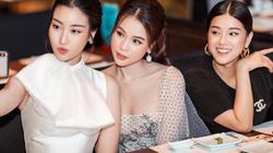 Sam diện váy mỏng tanh, rủ rê Đỗ Mỹ Linh, Hoàng Yến Chibi ăn tối