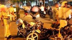 Say rượu, lái xe dùng dao tấn công một CSGT bị thương