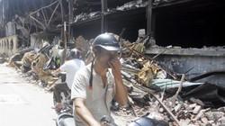 Nhịp sống người dân xung quanh hiện trường vụ cháy Cty Rạng Đông